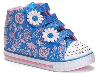 Skechers Twinkle Toes Chit Chat Baby Buddy Toddler Girls' Light-Up High Top Shoes $54.99 thestylecure.com