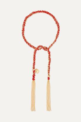 Carolina Bucci Love Lucky 18-karat Gold And Silk Bracelet