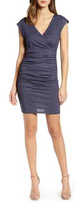 Leith Surplice Ruched Body-Con Dress