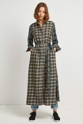 French Connenction Este Check Midi Shirt Dress