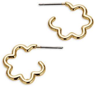 Kate Spade Scrunched Scallops Hoop Earrings
