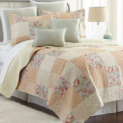 Sherry Kline Riverside Reversible Queen Mini Quilt Set in Cream