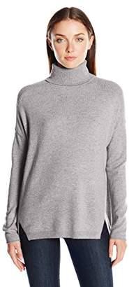 Lark & Ro Women's 100 Percent Cashmere 2 Ply Slouchy Turtleneck Sweater
