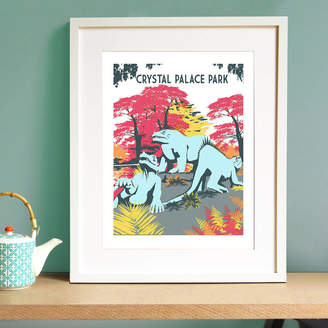 Red Faces Prints Crystal Palace Dinosaurs Screen Print