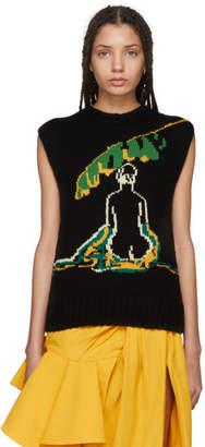 J.W.Anderson Black Palm Lady Sweater