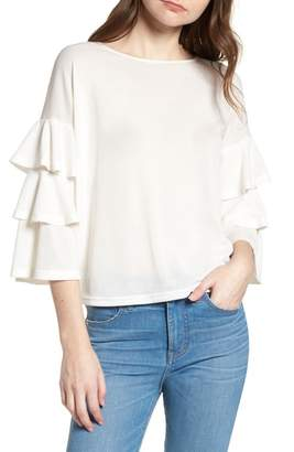 Bishop + Young BISHOP AND YOUNG Katie Tiered Ruffle Sleeve Top