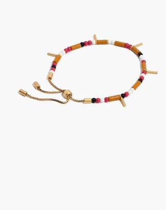 Madewell Adjustable Beaded Bracelet