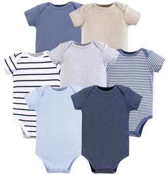Baby Vision 0-24 Months Unisex Hudson Baby Baby Cotton Bodysuits, Boy Basics 7-Pack
