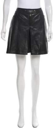 Tomas Maier Leather Mini Shorts