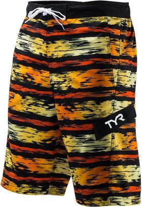 TYR Men's Paint-Striped Swim Trunks