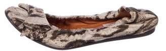 Lanvin Woven Bow Flats
