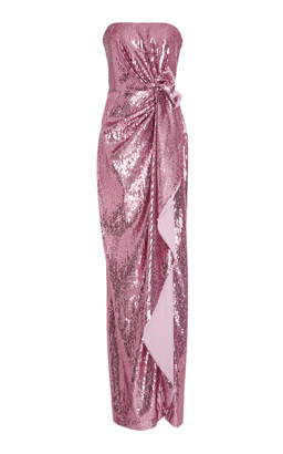 Prabal Gurung Strapless Sequined Tulle Gown