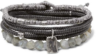 M. Cohen The Create Stack Ii Sterling Silver And Labradorite Bracelet Set