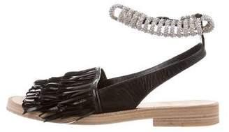 Balenciaga Fringe Embellished Sandals