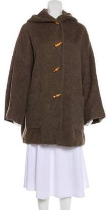 Gucci Hooded Alpaca Coat