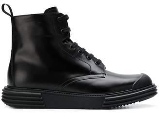 Prada lug sole ankle boots
