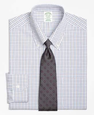 Brooks Brothers Milano Slim-Fit Dress Shirt, Non-Iron Triple Tattersall