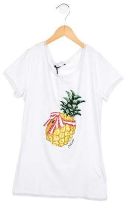 Jakioo Girls' Jewel-Embellished Pineapple Print Top w/ Tags