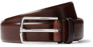 HUGO BOSS 3cm Brown Leather Belt