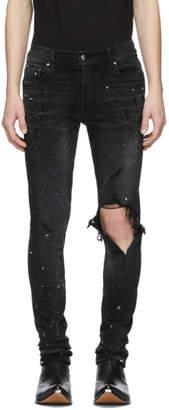 Amiri Black Artist Broken Jeans