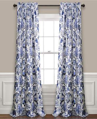 "Lush Decor Cynthia Jacobean Room Darkening Window Curtain Panel Set, 52""x108"""