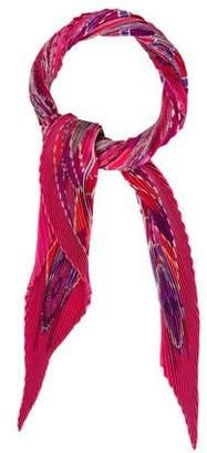 Hermes L'Art Indien Des Plaines Silk Plisse Scarf