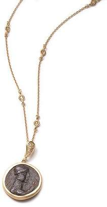Coomi Antiquity 20k Simple Coin Pendant Necklace with Diamonds