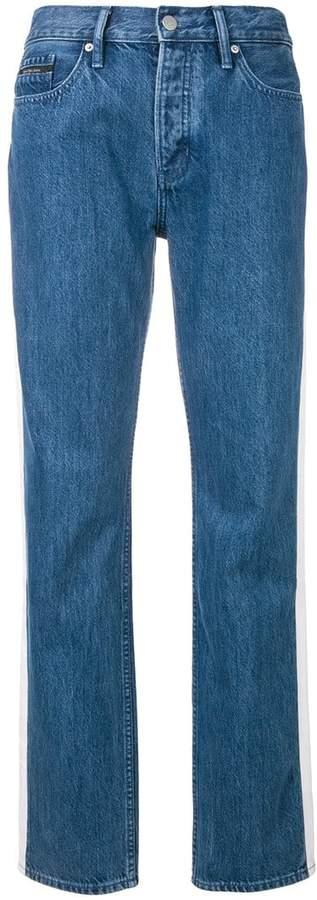 Gerade Jeans mit Streifen