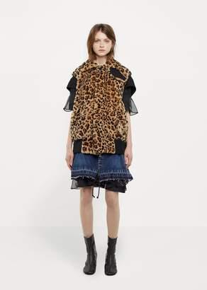 Sacai Fur Blouson Leopard