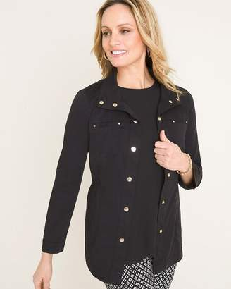 Chico's Chicos Luxe Twill Utility Jacket