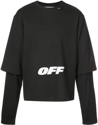 Off-White layered sweatshirt