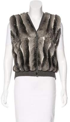 Prada Chinchilla & Wool Vest