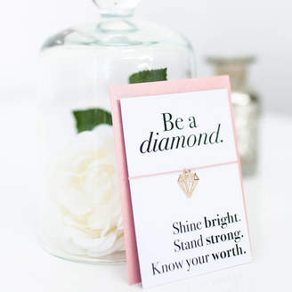 Team Hen Be A Diamond Wish Bracelet