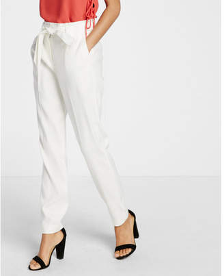 Express Linen-blend Belted Ankle Pant $69.90 thestylecure.com