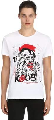 Kaos Printed Cotton T-Shirt