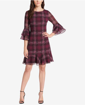 Jessica Howard Plaid Ruffled A-Line Dress, Regular & Petite