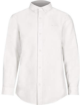 River Island Boys white button-down collar shirt