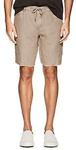 Blank NYC Blanknyc Men's Slim Linen Khaki Shorts-Beige, Tan Size 32