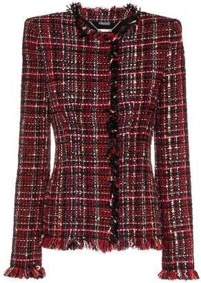 Alexander McQueen tailored tweed long sleeve jacket