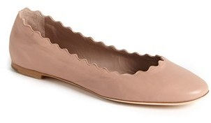 Women's Chloe 'Lauren' Scalloped Ballet Flat $495 thestylecure.com