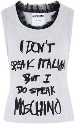 Moschino OFFICIAL STORE Sleeveless t-shirt