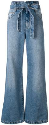 MSGM belted wide leg jeans