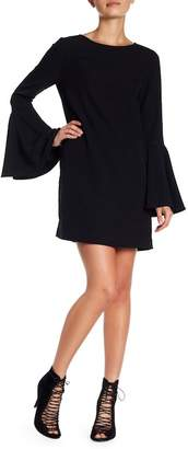 KENDALL + KYLIE Kendall & Kylie Crepe Bell Sleeve Mini Shift Dress