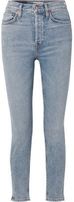 RE/DONE Originals High-rise Ankle Crop Skinny Jeans - Light blue
