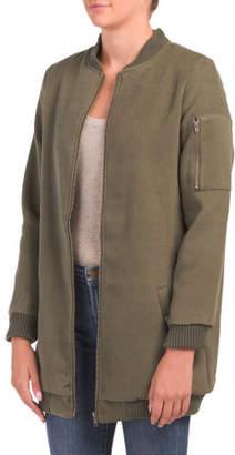 Juniors Aaliyah Long Bomber Jacket