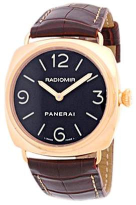 Panerai Radiomir 18K Rose Gold Strap Mens Watch $12,990 thestylecure.com