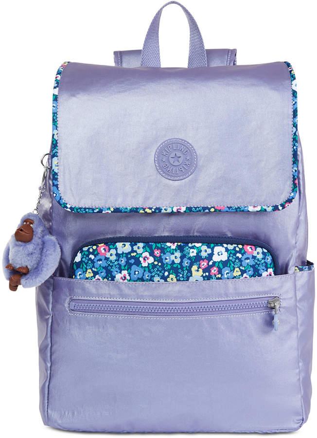 Kipling Aliz Backpack - METALLIC MIST PURPLE - STYLE