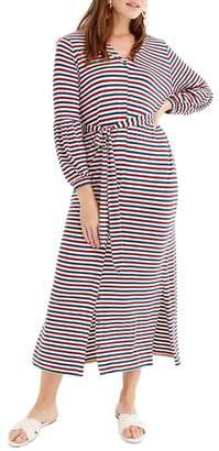 J.Crew Universal Standard for Bubble Sleeve Jersey Maxi Dress