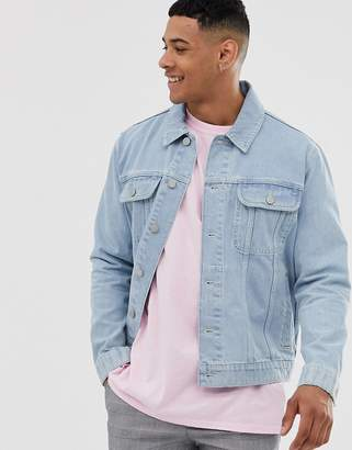 Asos Design DESIGN oversized denim jacket in light wash