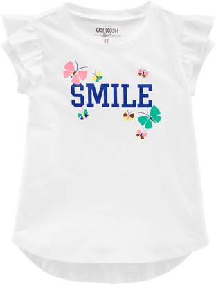 Osh Kosh Oshkosh Bgosh Toddler Girl Ruffle Graphic Tee